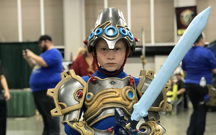 A child in costume at the FanX Salt Lake Comic Convention