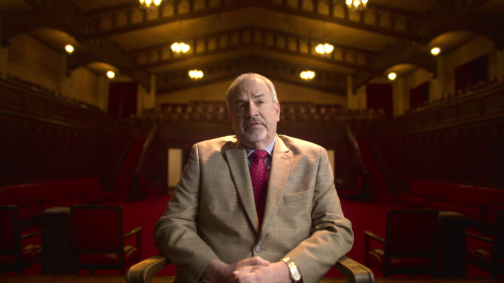Michael George (Salt Lake City Chief Investigator in Mark Hofmann case) in episode 2 of Murder Among the Mormons. c. Courtesy of Netflix © 2021