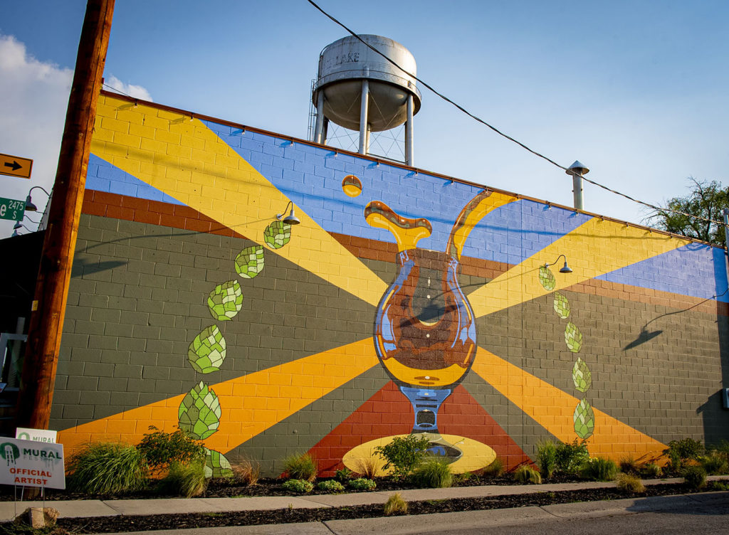Mural Fest, Alex Johntrone, Level Crossing Brewing Co, SLC, Utah
