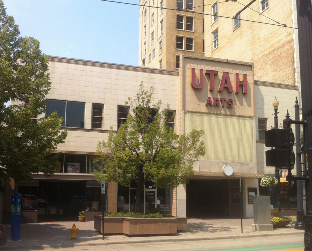 The exterior of the Utah Theater in 2020. Photo by Libby Haslam, courtesy J. Willard Marriott Library, University of Utah. Digital Image © 2020 University of Utah. All Rights Reserved.