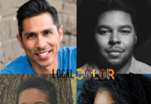 Playwrights of Local Color, clockwise: Tito Livas, Chris Curlett, Dee-Dee Darby-Duffin and Tatiana Christian