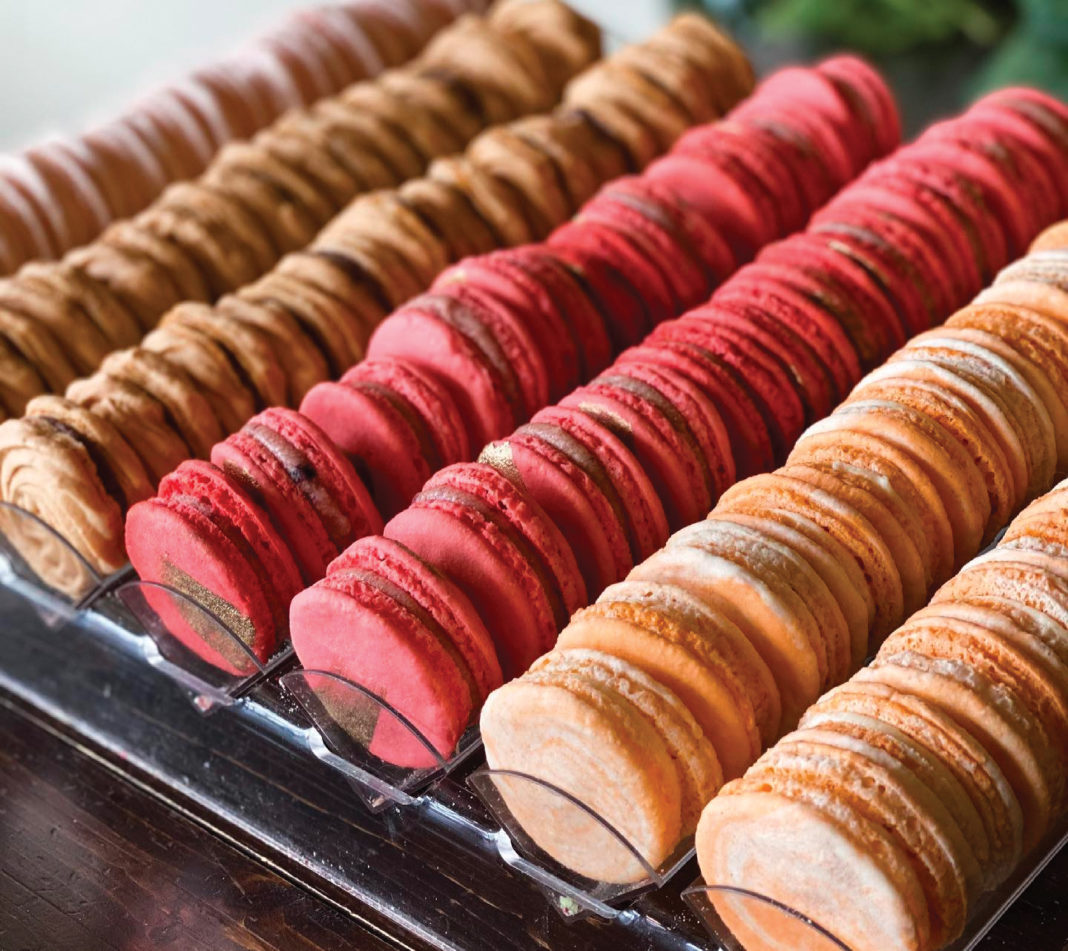 Multi-colored Macarons from Passion Flour, a place to get allergy-friendly takeout in Utah