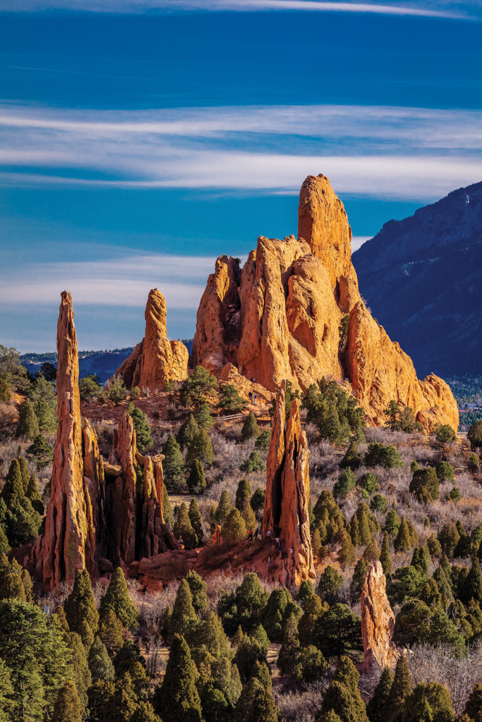 National Natural Landmark features Sedimentary rock formation in Garden of the Gods