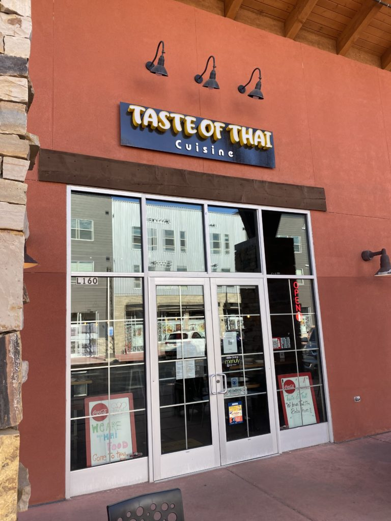 Exterior of Taste of Thai, the latest in a string of independent Park City restaurants