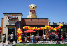 Exterior of Raising Cane's on opening day in South Jordan