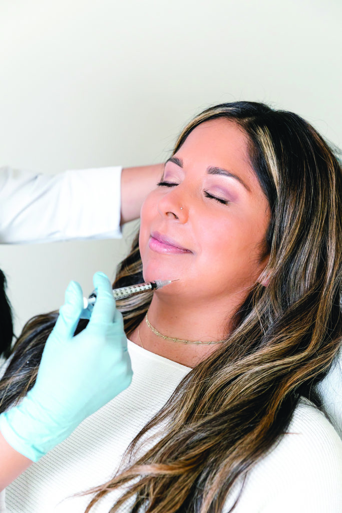 Woman receives injectables from SkinSpirit