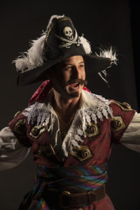 Rhett Guter as The Pirate King in the Utah Shakespeare Festival's 2021 production of The Pirates of Penzance