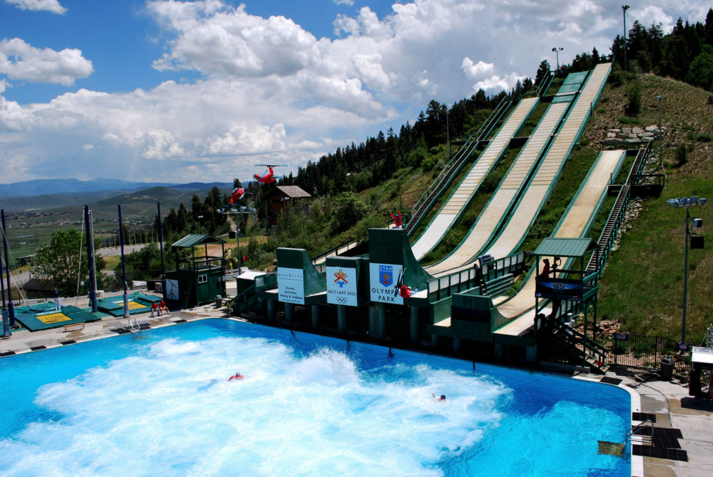 fly down an Olympic ski jump on an inner tube solo at the Utah Olympic Park. (photo courtesy Utah Office of Tourism)