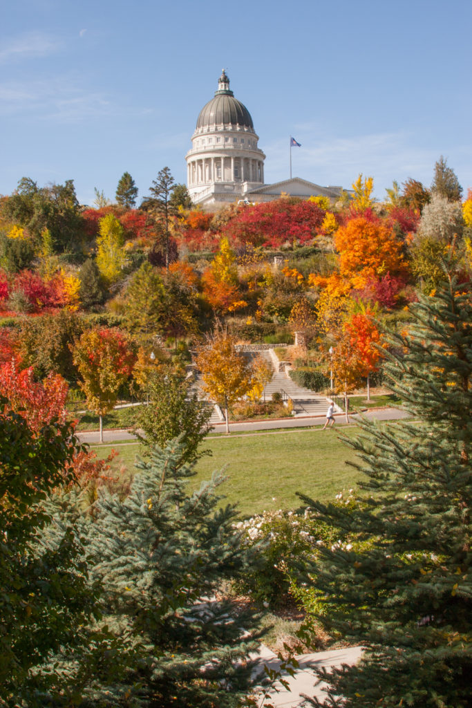 View of Utah State Capitol from Memory Grove, a swell location for a picnic in salt lake city