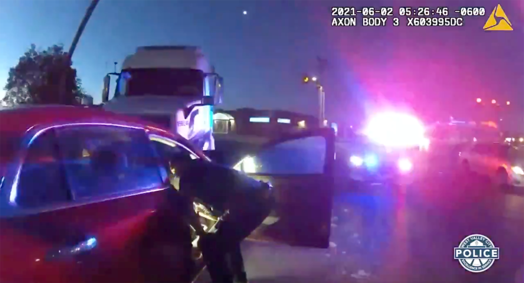 two girls crash into semi after early morning joy ride credit west valley city police dept.