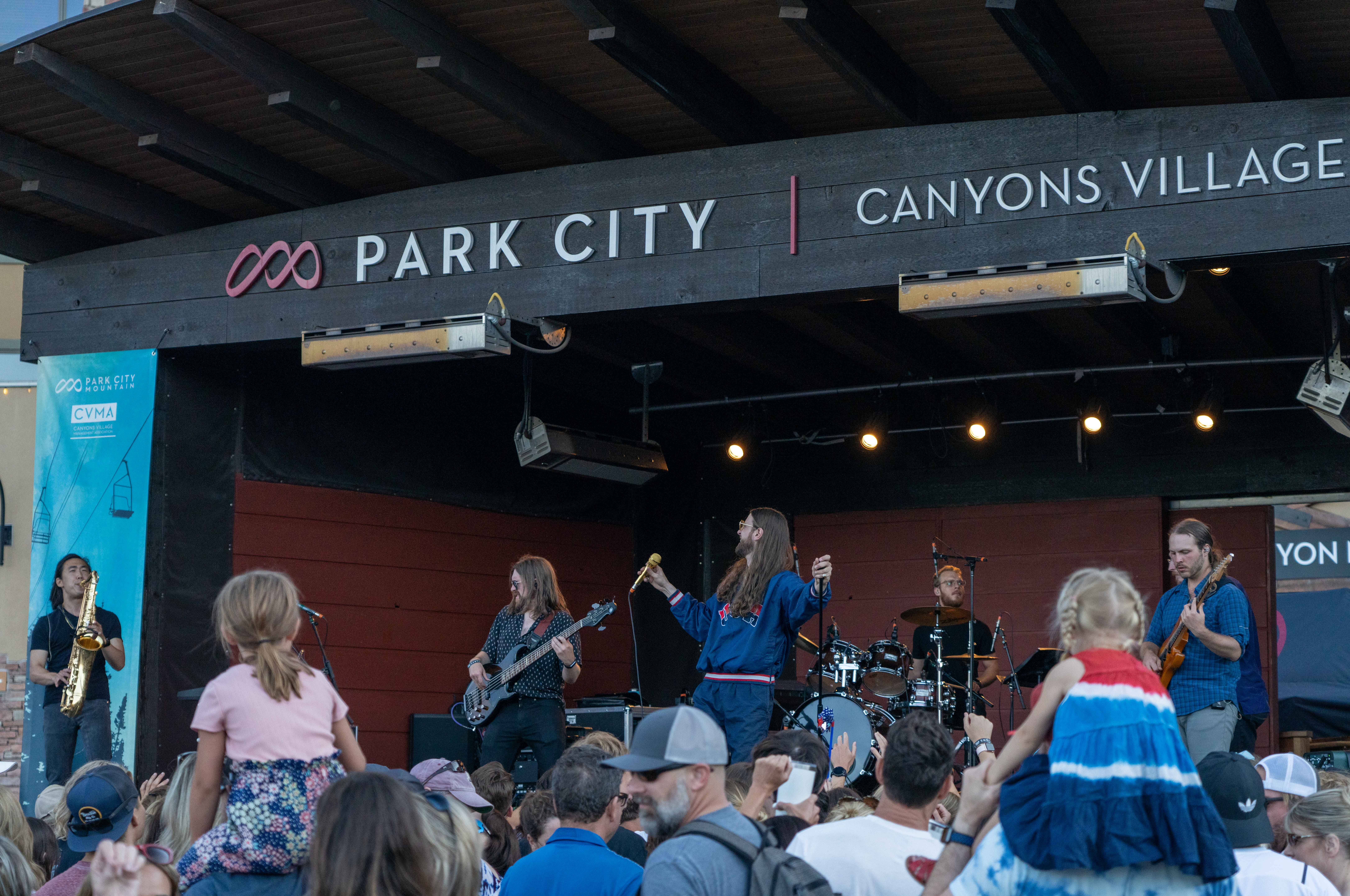 Crowds gather at Canyons Village, which hosts summer concerts in Park City