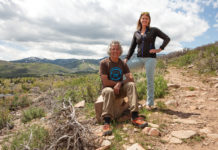 Charlie Sturgis and Lora Smith of the Mountain Trails Foundation