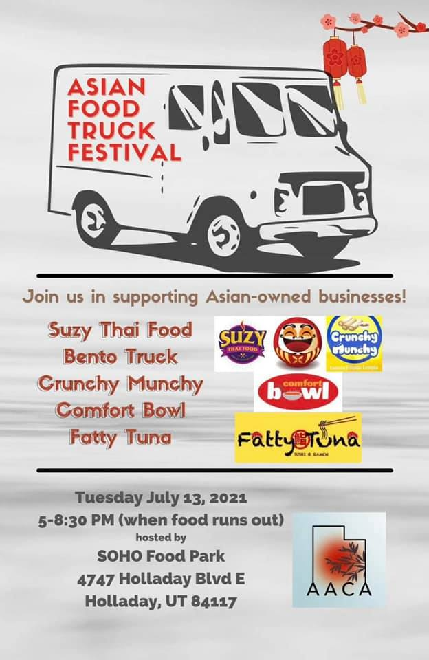 Flyer for food truck event, Asian Food Truck Festival