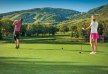 Two golfers at Park City Golf Course