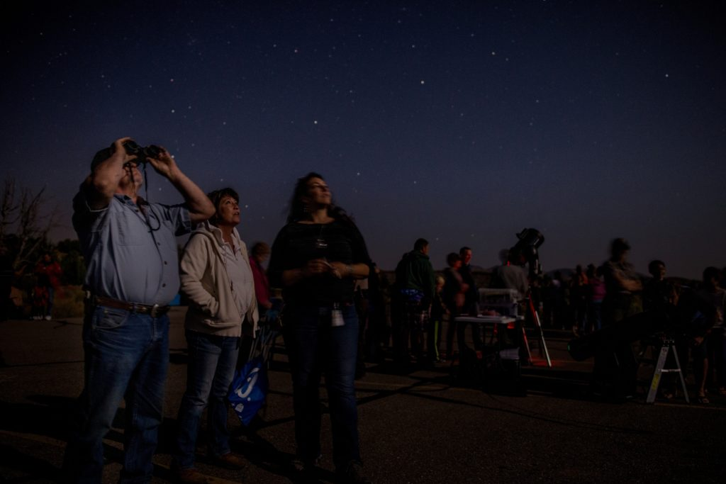 Not far from Dinosaur National Monument, a star viewing party at Steinaker State Park in Uintah County, Utah (photo courtesy Utah Office of Tourism)