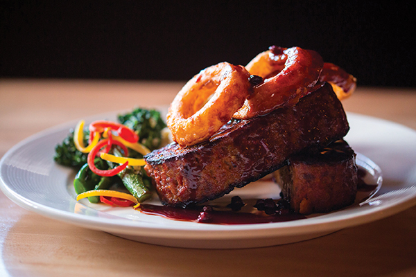 Elk meatloaf from Tupelo Grill. Photo Curtesy Tupelo Grill.