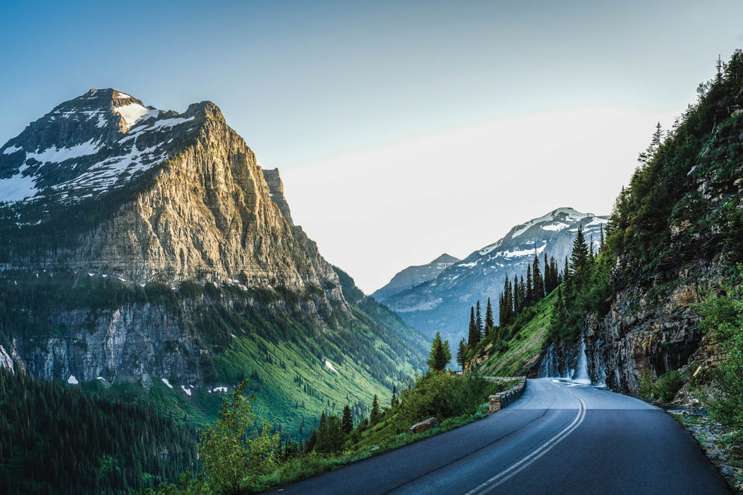 View from Going-to-the-Sun Road, near Logan Pass, Glacier National Park