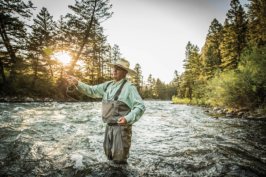 Fly-fishing the Gallatin River. Photo by Montana Office of Tourism and Business Development.