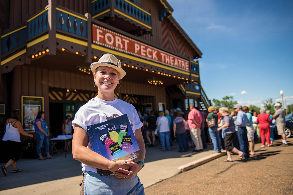Fort Peck Theatre. Photo by Montana Office of Tourism and Business Development.